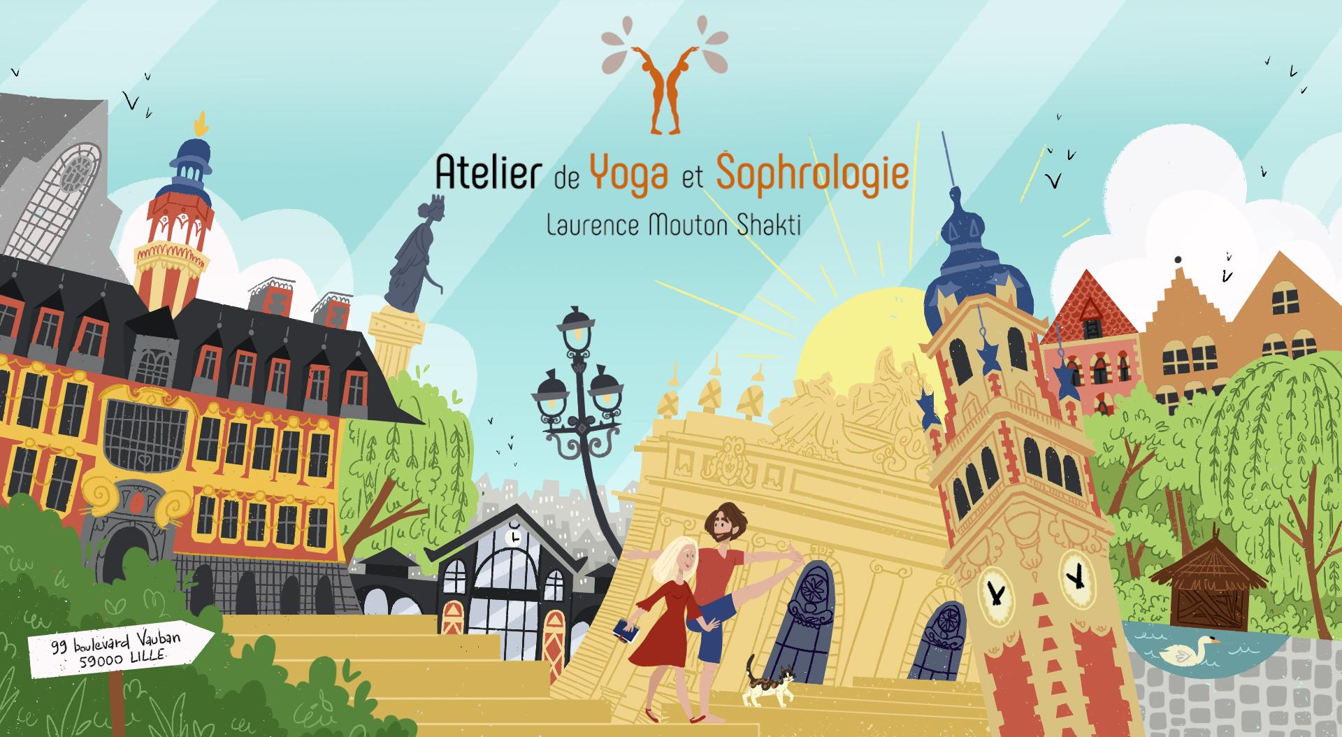 Atelier de Yoga, Sophrologie et Psychanalyse par la Sophrologue et Psychanalyste Laurence Mouton Shakti, à Lille
